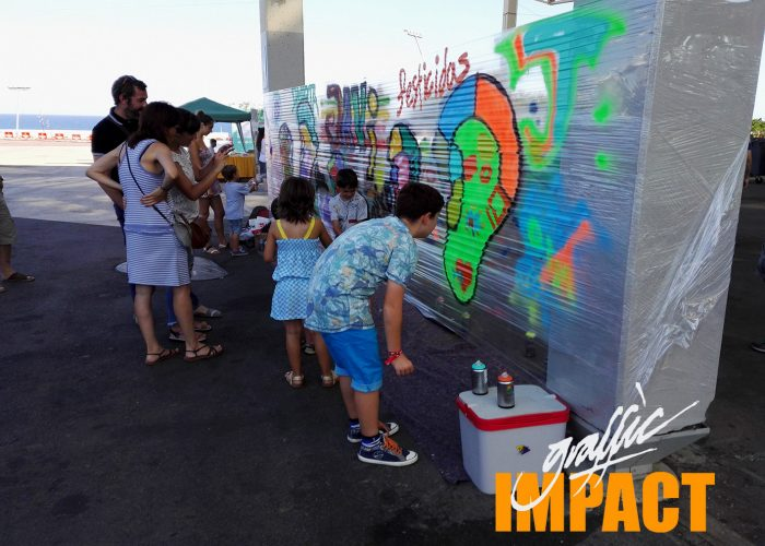 taller graffiti graffic impact mural barcelona spray montana colors